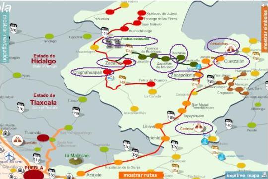 Sierra Norte Map