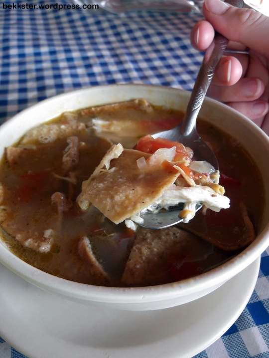 Sopa de lima. Also something you shouldn't miss!