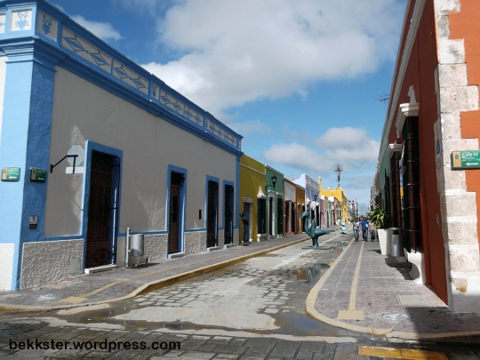 Downtown Campeche has been glammed up for tourism.