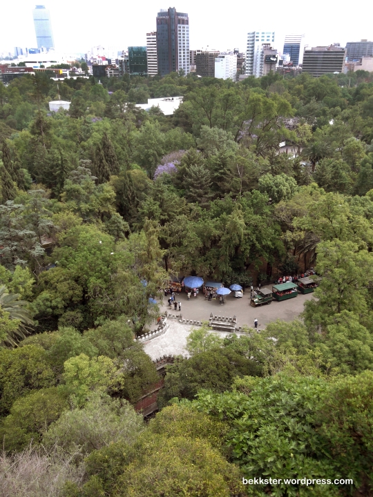 Chapultepec Park, as seen from El Castillo de Chapultepec.