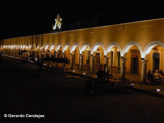 San Pedro Cholula's main square.
