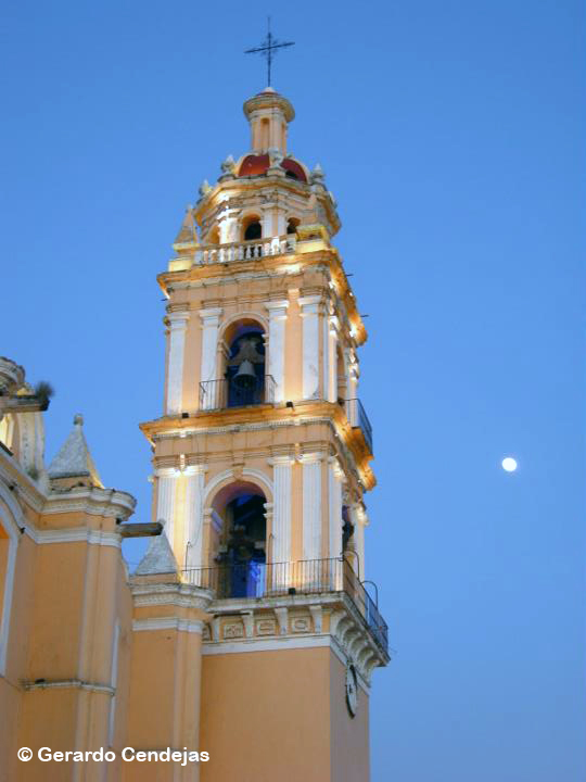 Cholula by night.