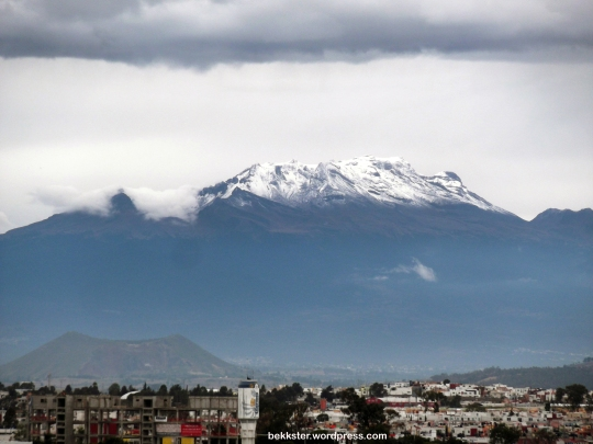 Iztaccíhuatl covered in snow.