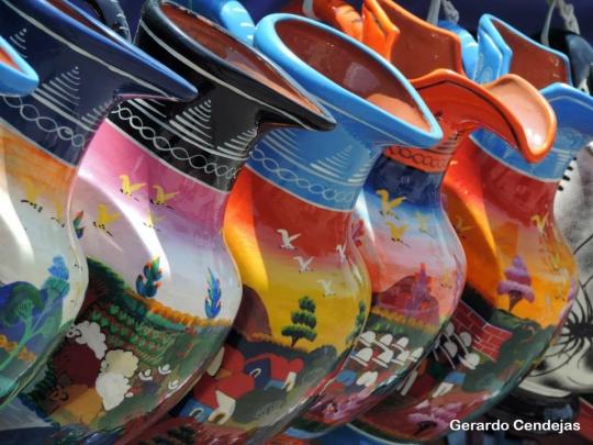 Souvenir pottery.