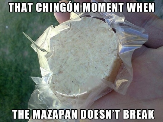 It really is a struggle. I usually just have to inhale the mazapan bits out of the wrapper.