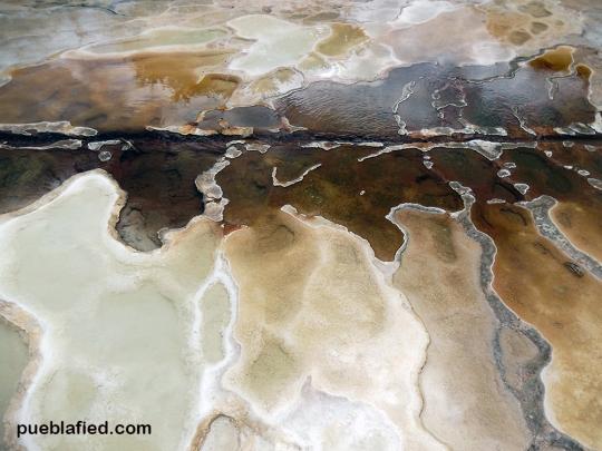 Mineral designs at Hierve el Agua.