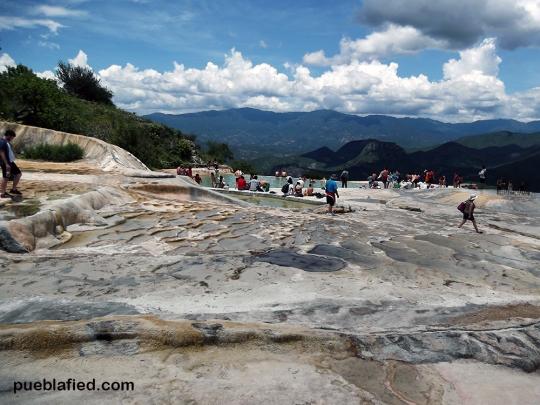 Mineral springs at Hierve el Agua.