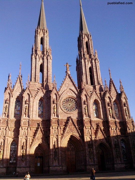 The cathedral in Zamora, Michoacán.