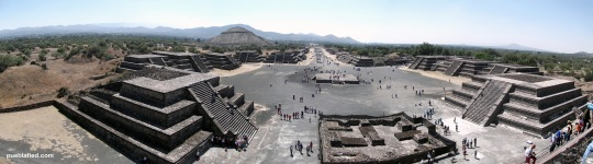 A view of the site from the Pyramid of the Moon.
