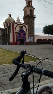 Riding through Cholula