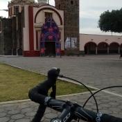 Riding through Cholula
